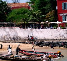 Beach on Goree Island, Senegal - Print by WonderMeMosaics