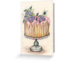 Cake No.2 - Watercolor  Greeting Card