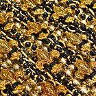 Black and Gold Fleur de Lis Beads by StudioBlack