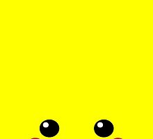 Pikachu, 'Pika Face', Pokemon by Thomas Marsden