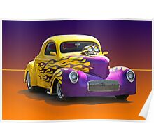 1941 Willys Coupe 'Studio' Poster