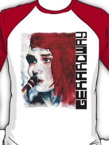 Gerard Way Hand Painted Portait T-Shirt
