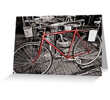 The Fireman's Bicycle Greeting Card