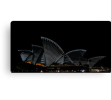 Lighting The Sails - Vivid 2014 - Inside Out Canvas Print