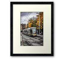 Dublin's City Trams Framed Print