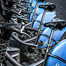 Blue Bicycles by Chris L Smith