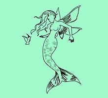 Mythical Winged Mermaid by mazipan