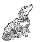 Dachshund Lovers - Doxie Zentangle by dvampyrelestat