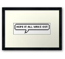 Niall Horan tweet Framed Print