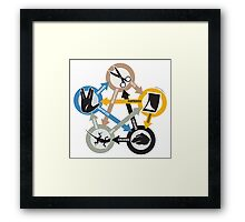 Rock, Paper, Scissors, Lizard, Spock Framed Print