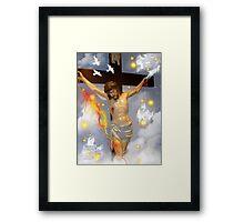 On The Cross Framed Print