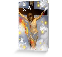 On The Cross Greeting Card