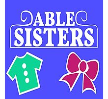 Able Sisters Logo Photographic Print