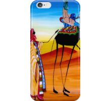 African painting of nomads - Print iPhone Case/Skin