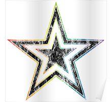 rainbow star Poster