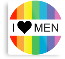 i heart men Metal Print
