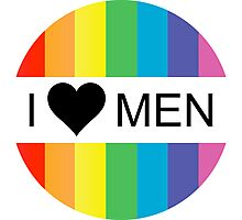 i heart men Photographic Print