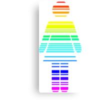 rainbow barcode girl Canvas Print