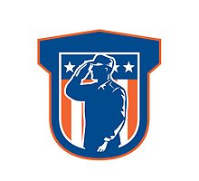 Miilitary Serviceman Salute Side Crest by patrimonio