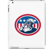 African American Soldier Salute Flag Retro iPad Case/Skin