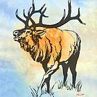 Bull Elk in the Roar by Patricia Howitt