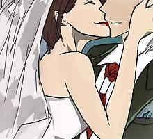 Misaki and Takumi Usui - Wedding Day  by redheadedshark