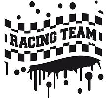 Racing Team Flag Graffiti Design by Style-O-Mat