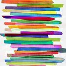 Colorful Stripes 1 by Mareike Böhmer