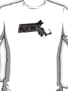Distressed Massachusetts Silhouette T-Shirt