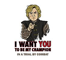 Uncle Tyrion Photographic Print