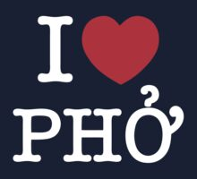 I Heart (Love) Phở T-Shirt