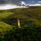 The Wallace Monument , Scotland by Forfarlass