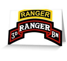 3rd Ranger +tab Greeting Card