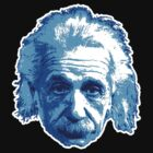 Albert Einstein - Theoretical Physicist - Blue by graphix