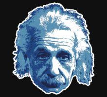 Albert Einstein - Theoretical Physicist - Blue by graphix