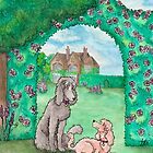 Country garden poodles by LiseRichardson