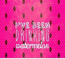 Drinking Watermelon by M Studio Designs