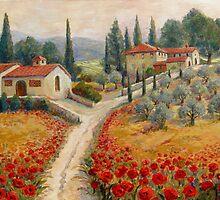 Red Poppy Road Villas by Joanne Morris