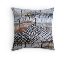 Woven in Time Throw Pillow