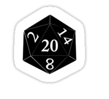 D20 Five Percent Success Guaranteed Sticker