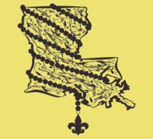 Louisiana State Wrapped in Black Beads by StudioBlack