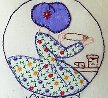 Thursday Purple Pie Baking Bonnet Lady by Urbanfringe