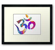 oil om Framed Print