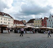 Market, Town Hall Square, Tallin, Estonia by Trish Meyer