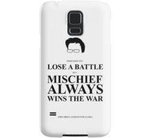 John Green Quote Poster - Mischief always wins the war  Samsung Galaxy Case/Skin