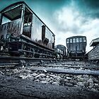 The Abandoned Train Yard  by Art Hakker Photography