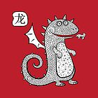 Cartoon dragon.  by Katyau