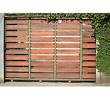 brown wooden gate Photographic Print