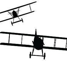Fokker DVII versus Spad XIII  by AlphaEchoing