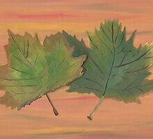 Acrylic Autumn Leaves by Brinjen